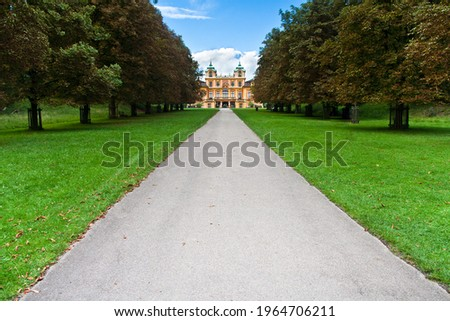 Baroque Maison de Plaisance, and a hunting lodge, located in the town of Ludwigsburg in Germany. constructed between the years 1717 and 1723, and was built for the Duke of Wurttemberg Photo stock ©
