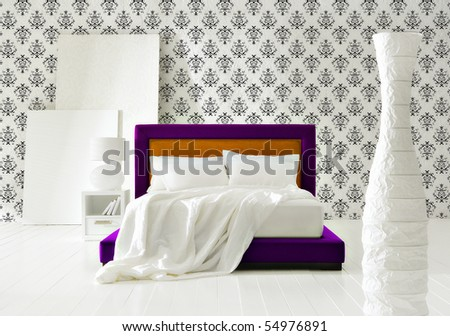 Baroque Minimal Bedroom Interiors Stock Photo 54976891