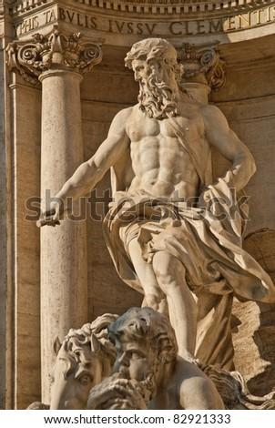 Baroque Trevi Fountain (Fontana di Trevi) in Rome, Italy