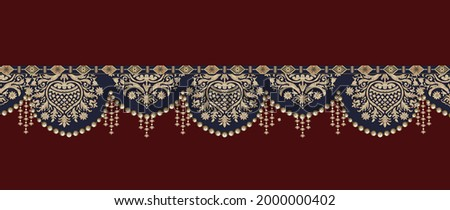 Baroque Vintage elements design style.Design for cover, fabric, textile, illustrations hand made art work. Geometric floral digital textile design motif and abstract illustration Artwork for textile