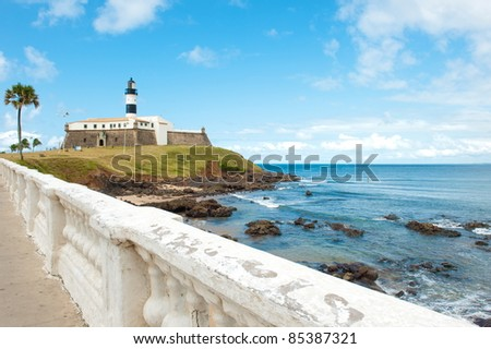 Barra lighthouse, Salvador - Bahia - Brazil - stock photo