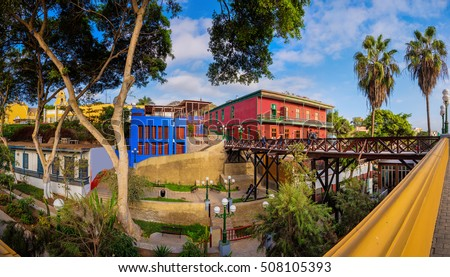 BARRANCO, LIMA, PERU: The old town of Barranco, in Lima, Peru.