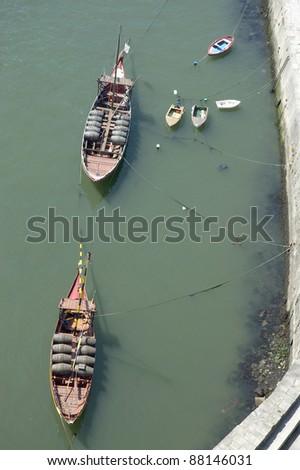 Barrel boat on Douro river at Porto, Portugal