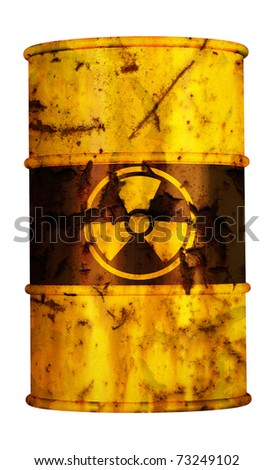 barrel radioactive waste from nuclear power plant station danger of radiation and risk of contamination by gamma radiation radioactivity dangerous toxic container atomic pollution meltdown