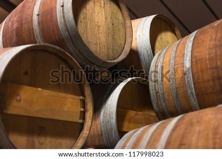 Barrels of South African in the Stellenbosch region