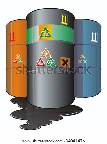 barrels with chemicals,pollutions , ecological concept