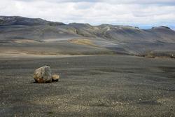 Barren landscape, Sprengisandur highland plateau, F26, Southern Region, Iceland