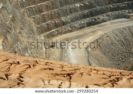 Barrick Gold Mine West Wyalong NSW Australia Super Pit processing plant