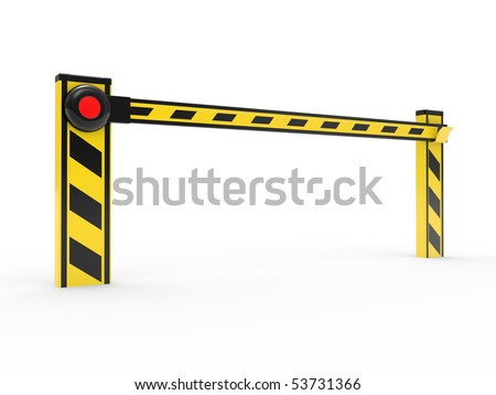 Barrier, illustration 3D isolated on a white background - stock photo