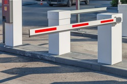 Barrier in the parking lot