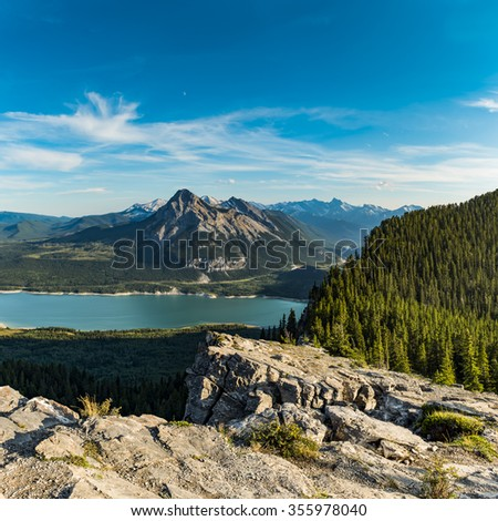 Barrier Lake in the beautiful Kananaskis Valley, Alberta Canada in summer