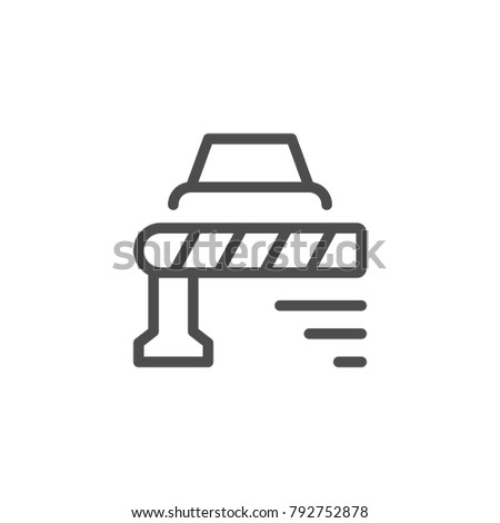 Barrier line icon isolated on white