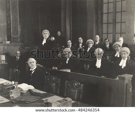 barristers in courtroom