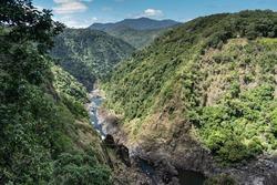Barron Gorge, downstream from Barron Falls in far north Queensland, Australia