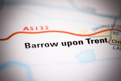 Barrow upon Trent on a geographical map of UK