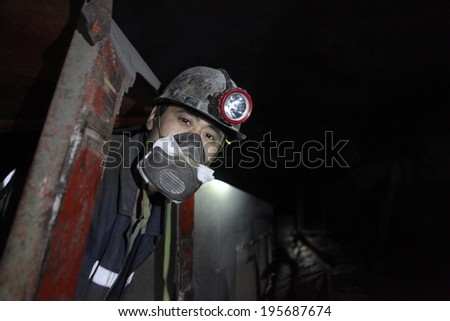 BARTIN-APRIL 5 : Unidentified Chinese mine workers began working in Turkey on April 5, 2014 in Bartin,Turke