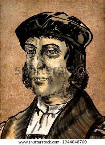 Bartolomeu Dias a nobleman of the Portuguese royal household, was a Portuguese explorer. Foto stock ©