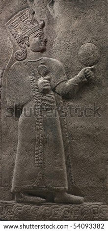 Bas-relief of the ancient ruler- an exhibit from Museum of Anatolian Civilizations, Ankara, Turkey