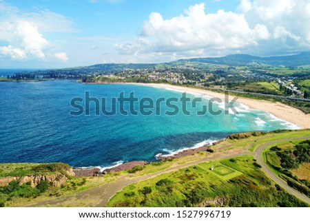 Basalt coastline and pillars in New South Wales close to Kiama #1527996719