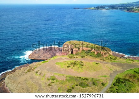 Basalt coastline and pillars in New South Wales close to Kiama #1527996731