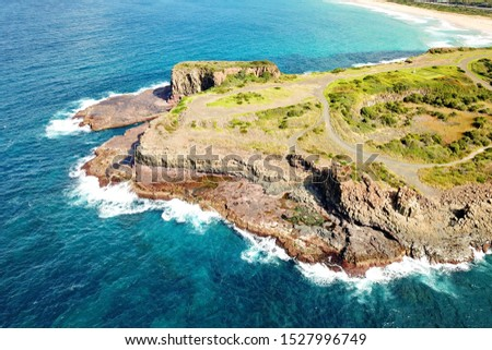 Basalt coastline and pillars in New South Wales close to Kiama #1527996749