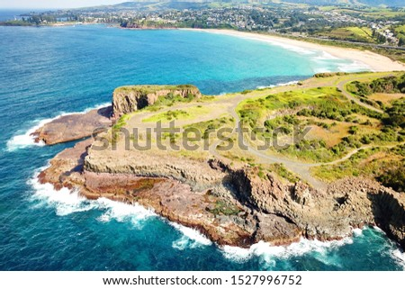 Basalt coastline and pillars in New South Wales close to Kiama #1527996752