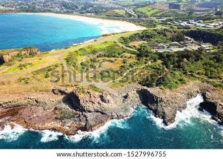Basalt coastline and pillars in New South Wales close to Kiama #1527996755