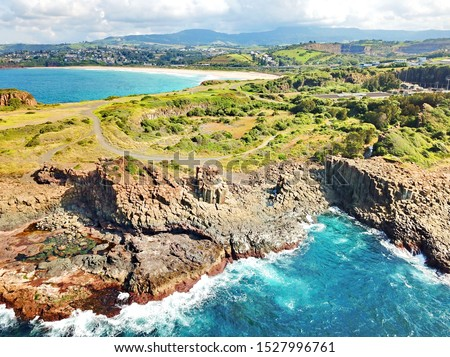 Basalt coastline and pillars in New South Wales close to Kiama #1527996761
