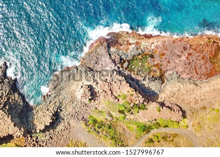 Basalt coastline and pillars in New South Wales close to Kiama #1527996767