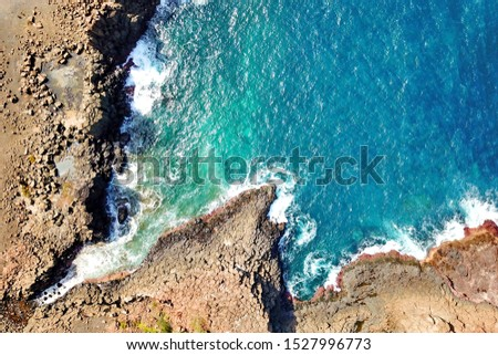 Basalt coastline and pillars in New South Wales close to Kiama #1527996773