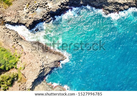 Basalt coastline and pillars in New South Wales close to Kiama #1527996785