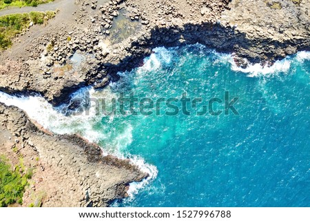 Basalt coastline and pillars in New South Wales close to Kiama #1527996788