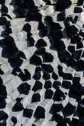 Basalt collumns texture in Reynisfjara beach.
