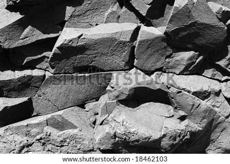 stock photo : Basaltic igneous