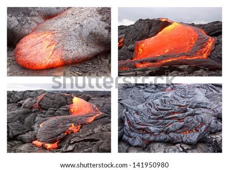 Basaltic Lava Basaltic Pahoehoe Lava Flow in