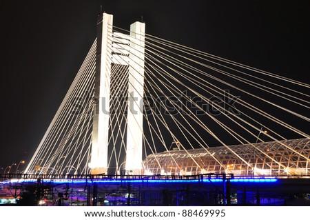 Basarab bridge, Bucharest, Romania - stock photo