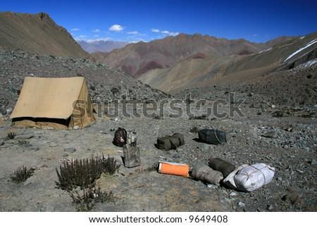 Base Camp, Himalayas - Mountain Climb- Stok Kangri (6,150m / 20,080ft), India