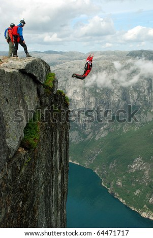 how to jump off a cliff and die