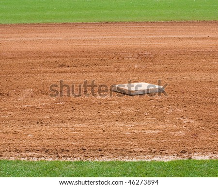base on infield of a baseball field