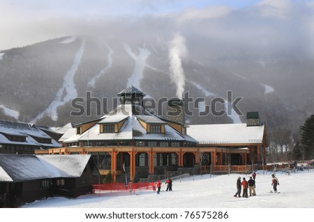 Base ski lodge in Stowe, VT