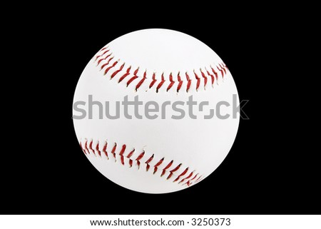 baseball ball isolated on a black background