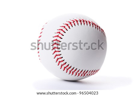 Baseball ball isolated on white - stock photo