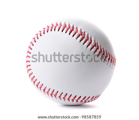 Baseball ball isolated on white