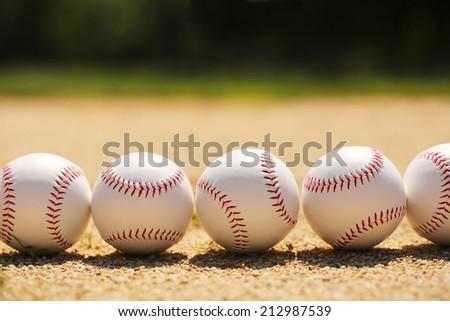 Baseball. Balls on Field