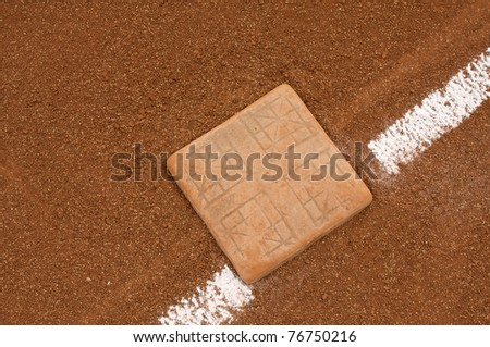 Baseball Base and Chalk Line with room for copy