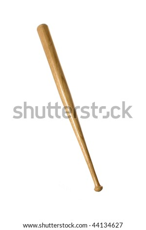 Baseball bat on a white background - stock photo