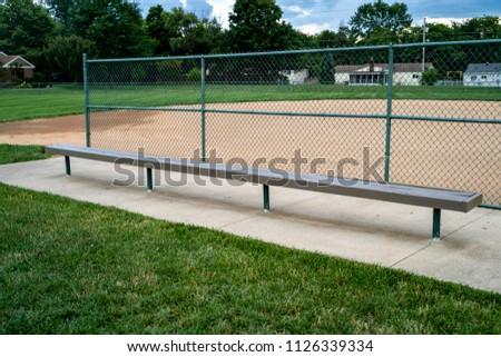 Baseball Bench Bleachers #1126339334