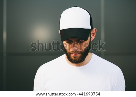 Baseball cap empty mock up