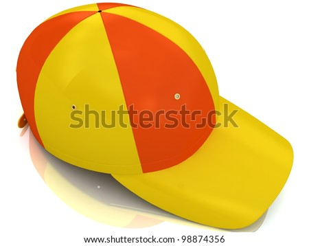 baseball cap isolated on white