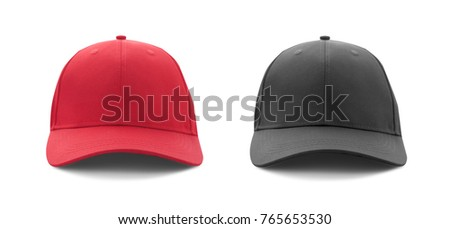 ce4b0aadd98 A red cap back side view isolated white background. Images and Stock ...